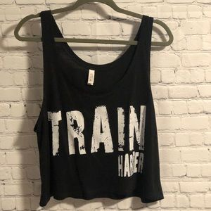 NWOT Train Harder Crop Tank Top